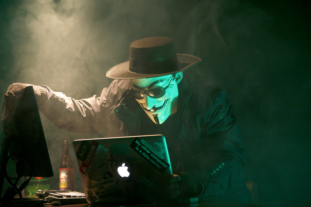 """Anonymous Hacker"" via Brian Klug on Flickr, Creative Commons licensed"