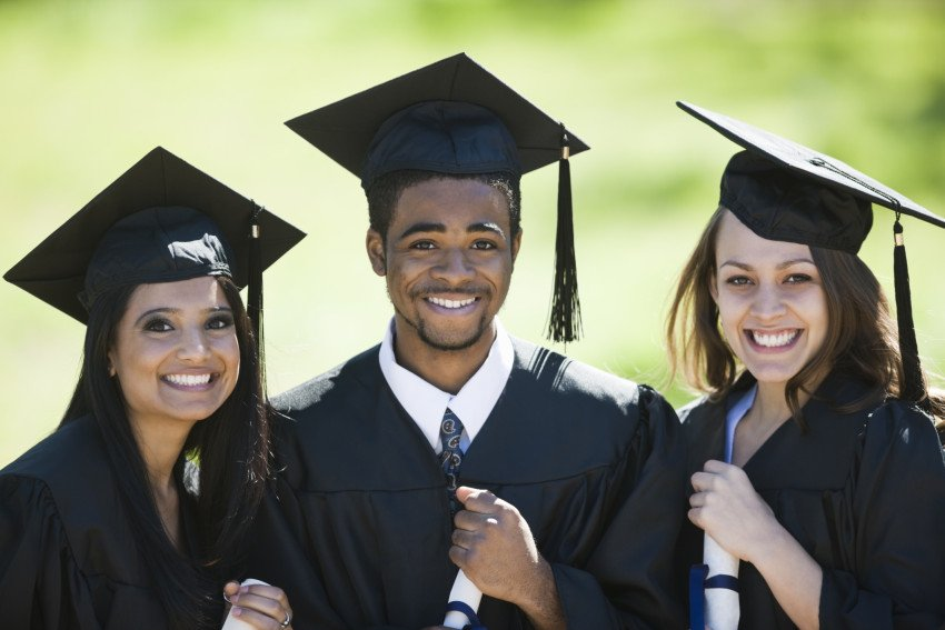 """Multi-Racial Classmates Smiling on Graduation Day"", via Ben Blankenburg, ThinkStock."