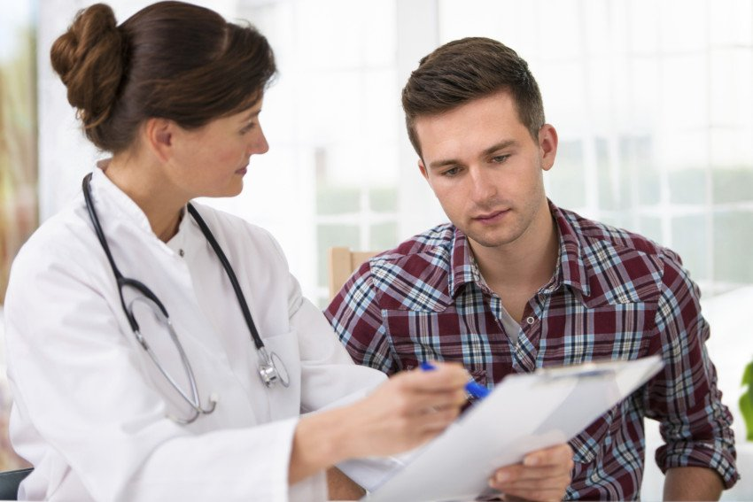 """Doctor With Male Patient"", via Alexander Raths, ThinkStock"