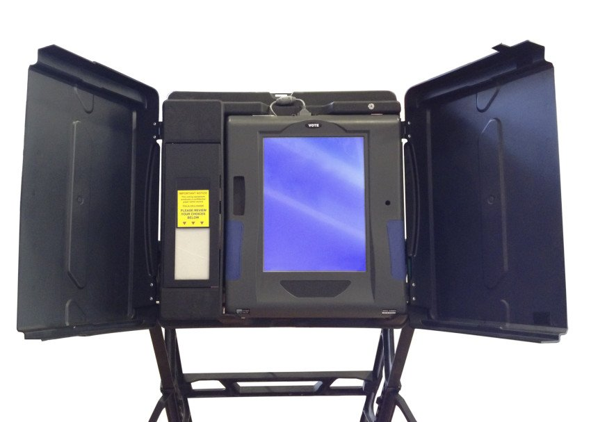 """""""Voting Machine Isolated in White"""", via clsgraphics, ThinkStock."""