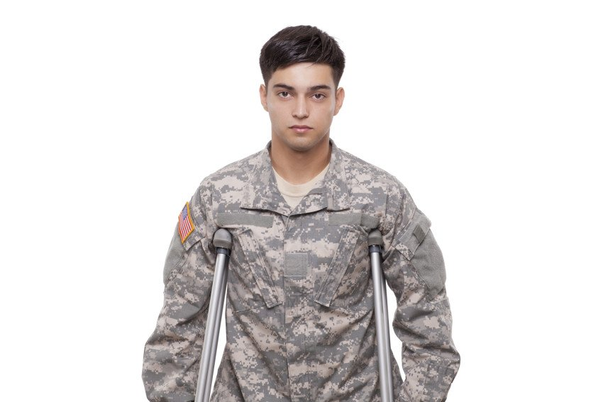 """Portrait of a Soldier with Crutches"", via videodet, ThinkStock."
